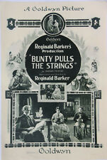 BUNTY PULLS THE STRINGS (1921) US One-Sheet Poster Leatrice Joy Scottish Theme