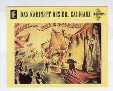 Figurina SUPERCINEMA EVENTS MAXI CARDS NUMERO 100 DAS KABINETT DE DR.CALIGARI