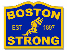 "4"" boston strong marathon run tribute city sign shape car sticker decal usa made"