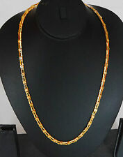 indian gold plated  long curb twist chain ethnic jewelry u1 c