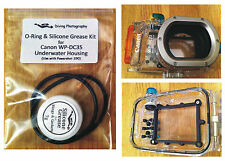 O-ring & Silicone Grease Kit for Canon WP-DC35 Diving Underwater Housing Case