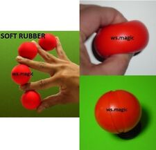 Multiplying Billiard Balls Soft Rubber Red - 4cm Magic Trick Party Show Stage DD