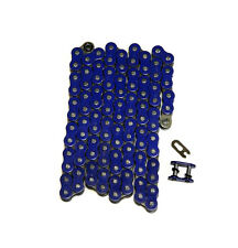 Blue 525x110 O-Ring Drive Chain Motorcycle 525 Pitch 110 Links 8200# Tensile