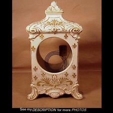 Antique Made in France China Clock Case Cream w/ Gold Decoration