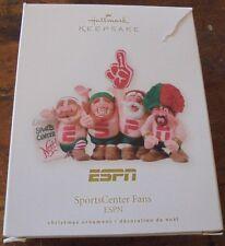 Hallmark Keepsake Christmas ornament ESPN Sportscenter Fans holiday Santa Elves