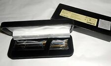 The Bombay Company Gold & Chrome Ball Pen - Never Used In Box - Needs Ink -