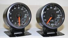60mm Black EGT Pyro & Boost Gauge Diesel Exhaust Gas Temp Hilux Patrol 4x4 4WD