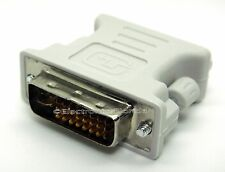 DVI-I dual link 24+5 male to VGA standard female white connector adapter e58