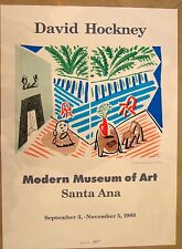 Original David Hockney 1989 Modern Museum signed Art Santa Ana exhibition poster