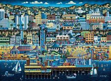 Jigsaw puzzle Explore America Santa Monica California NEW 1000 piece Made in USA