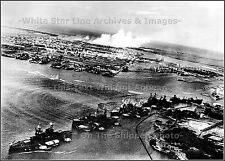 Photo Pearl Harbor WWII Japanese Aerial: Battleship Row, December 7, 1941