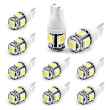 10PCS  Wholesale T10 194 168 2825 5X 5050 SMD LED White Car Lights Lamp Bulb New