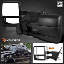 2004-2014 Ford F150 Manual Extend Telescoping Towing Side Mirrors Left+Right