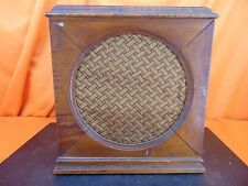 Vintage 1928 United American 612 Wood Table Box Radio SPEAKER