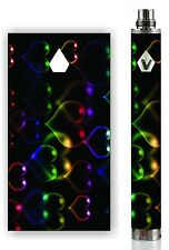Battery Skin Decal For: Vision Spinner 2 Mod Pen Vape Wrap Decal -NEON HEARTS