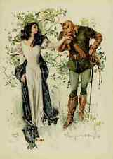 A4 Photo Christy Chandler The Lady of the Lake 1910 Scottish love Print Poster