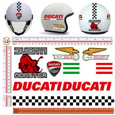 Adesivi casco ducati corse sticker helmet tuning ducati italian flag 10 pz.