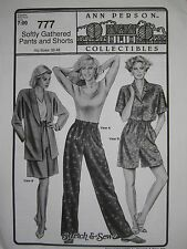 Ann Person Collectibles - Softly Gathered Pants and Shorts 777 (Pattern Only)