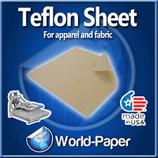 "Teflon Fabric Sheet Transfer Press 5 Mil Thickness Heat Press 1Pk 18""x18"" :)"