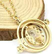 NEW Harry Potter Small Time Turner Necklace - Gold or Silver Plated - Great Gift