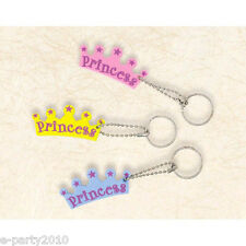 PRINCESS FOAM KEYCHAINS (6) ~ Birthday Party Supplies Favors Gifts Loot Goodies