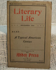 rare antique old LITERARY LIFE Magazine 1901 Abbey Press book reviews authors