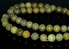 8MM OLIVE PERIDOT GEMSTONE GREEN ROUND 8MM LOOSE BEADS 15.5""
