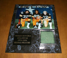 PITTSBURGH STEELERS SUPERBOWL MVP's THREE RIVERS STADIUM TURF PLAQUE