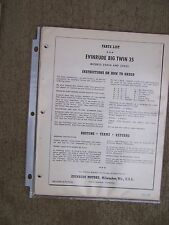 1958 Evinrude Big Twin 35 HP Outboard Parts List 25034 25035  MORE IN STORE  U