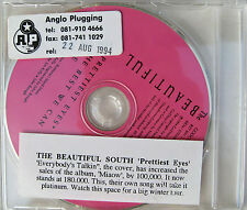 The BEAUTIFUL SOUTH CD Prettiest Eyes 3 Track UK PROMO w/ Stickered case UNPLAYE