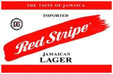 Vintage Red Stripe Poster, Product of Jamaica, Good Jamaican Beer, Premium Lager
