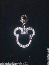 Brand New Disney Clear Crystal Mickey Mouse Icon Charm