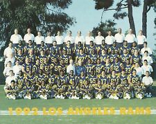1992 LOS ANGELES RAMS UNSIGNED TEAM 8x10 PHOTO