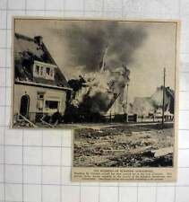 1940 Houses Wrecked In The Vicinity Of Schiphol Aerodrome Near Amsterdam