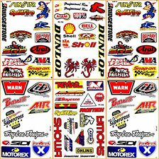 Pro Motocross Motorcycles Moto GP ATV D6220 Lot 6 Vinyl Graphic Decals Stickers