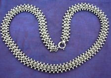 Beautiful antique Victorian Silver book chain collar / necklace  18.5 inches