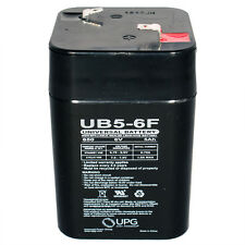UPG 6VOLT 5AH GAME FEEDER LANTERN RECHARGEABLE SEALED BATTERY