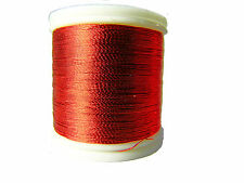OLDE FLY SHOP ROD BUILDING METAILLIC THREAD 100YDS SIZE A   RED #YC120
