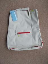 NEW BOOTS Day Travel Tote Bag Beige & Red Expandable Hand Luggage