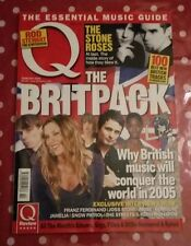 Q MAGAZINE FEBRUARY 2005 THE BRIT PACK STONE ROSES KASABIAN ROD STEWART FEEDER