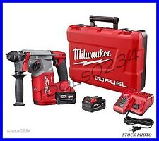 "New Milwaukee 2712-22 M18 FUEL 1"" SDS Plus Rotary Hammer Drill Kit"