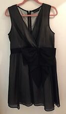 Dorothy Perkins Little Black Party Dress Sz 16 Cruise/Christmas/evening/goth