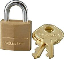 "NEW MASTER LOCK 120D SOLID BRASS KEYED PADLOCK 5/32"" X 7/16""  6104509"