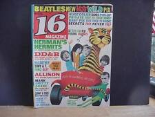 Vintage 16 Magazine (Sixteen) for Teenagers-May 1966 Issue-BEATLES