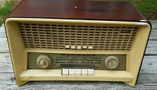 Norelco Phillips B4X87A Shortwave FM UHF Tube Wooden Case ShortWave FM Radio