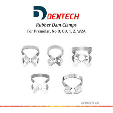RUBBER DAM CLAMPS DENTAL RESTORATIVE PREMOLAR SET OF 5 *GERMAN STEEL CE NEW*