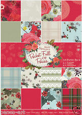Papermania 32 Christmas scrapbooking papers pack A4 160gm Pocket Full of Posies