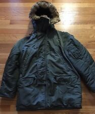 Vintage Vietnam War Era N-3B USAF Flying Parka Twill Sage Green Uniform Jacket.