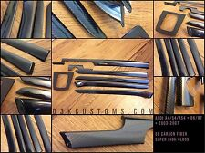 2002-2007 Audi A4 S4 RS4 B6/B7 | 5D GLOSS Carbon Fiber Interior Trim Kit (9 Pc.)