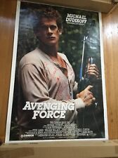 "MICHAEL DUDIKOFF Autographed AVENGING FORCE Movie Poster 1986 27""x40"""
